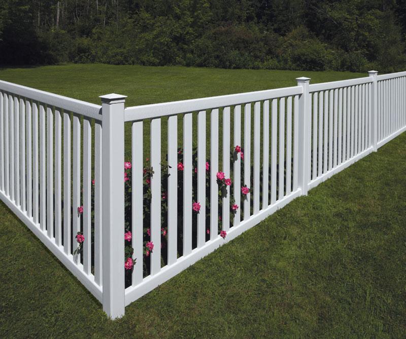 Забор из штакетника Кантри 03